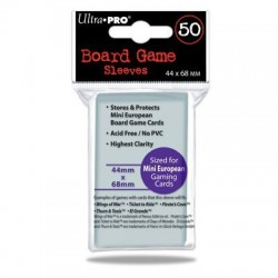 SLEEVES Board Game 44x68mm. 50 d12