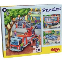 Puzzles Politie, Brandweer,...